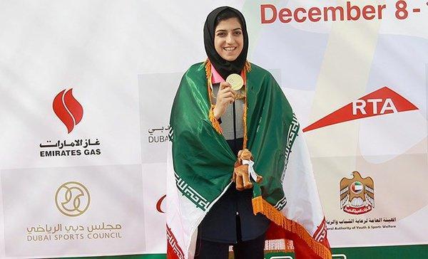 رقابتهای پارا دوومیدانی فزاع دبی/ صفرزاده در دوی 400 متر بانوان نقره گرفت