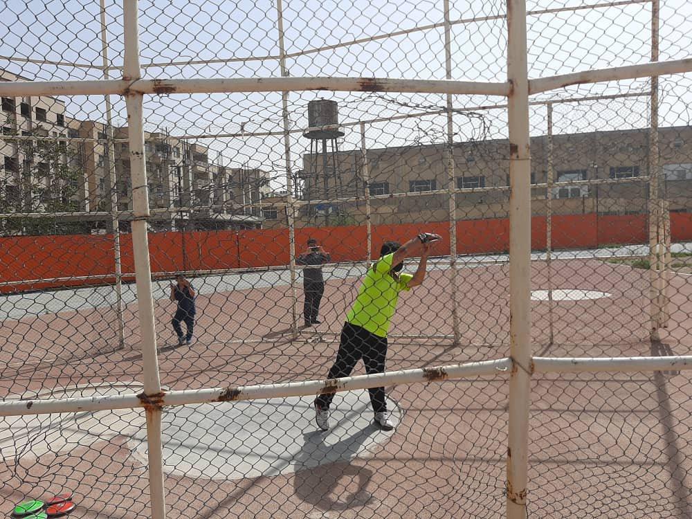 رکوردگیری از ورزشکاران دوومیدانی انتخابی تیم ملی جوانان و نوجوانان
